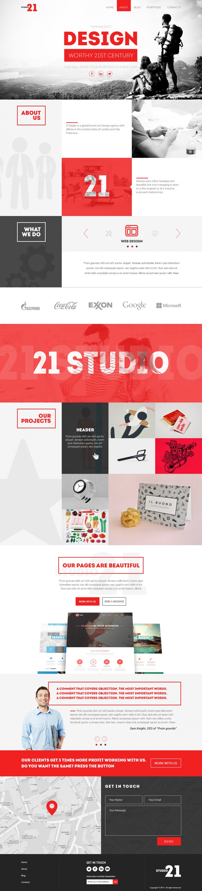 Studio-Creative One Page Template