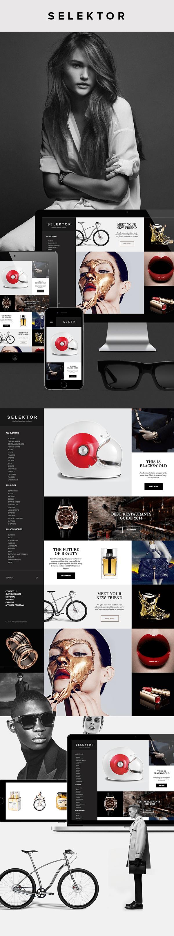 SLKTR – Social shopping platform design by Serge Vasil
