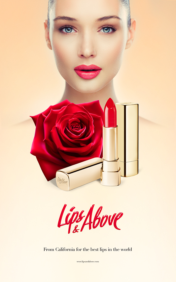 Lips&Above – Homemade red lipstick branding and creative concept by Serge Vasil