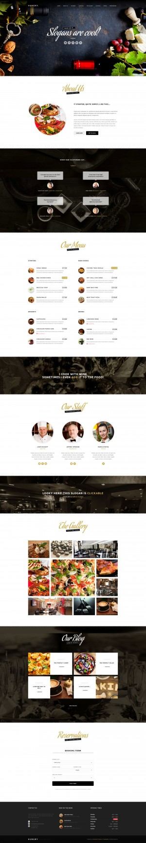 Hungry – A WordPress One Page Restaurant Theme
