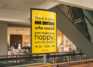 There is only one person who could ever make you happy, and that person is you