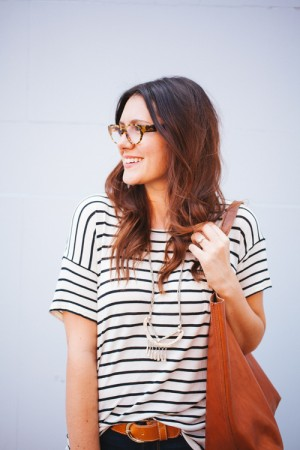 Kendi Everyday: Cognac + Stripes