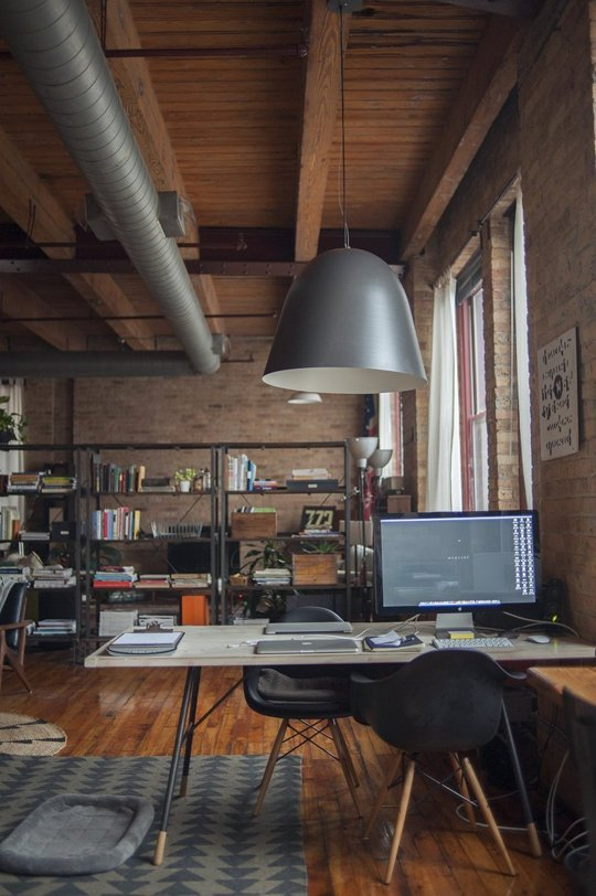 Nicole & Mike's Warm Industrial Loft — House Call | Apartment Therapy