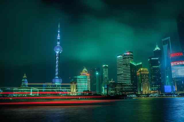 Shanghai at Night by Nicolas Jandrain