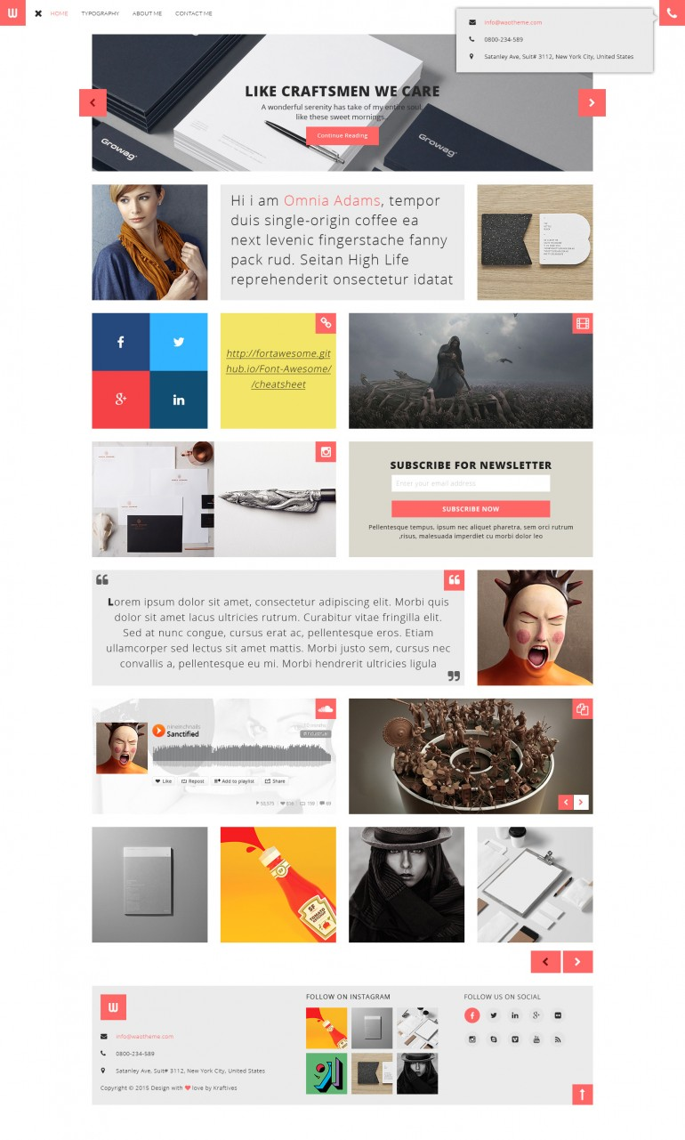 WOW – Personal Blogger PSD Template