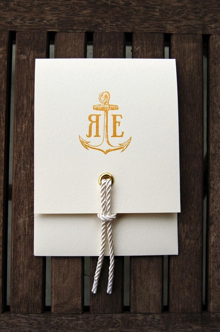 Ryan Erin Wedding Invitation designed by Carolyn Sewel.