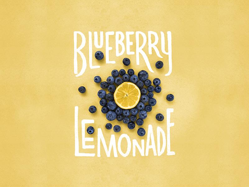 Blueberry Lemonade Lettering/Photo