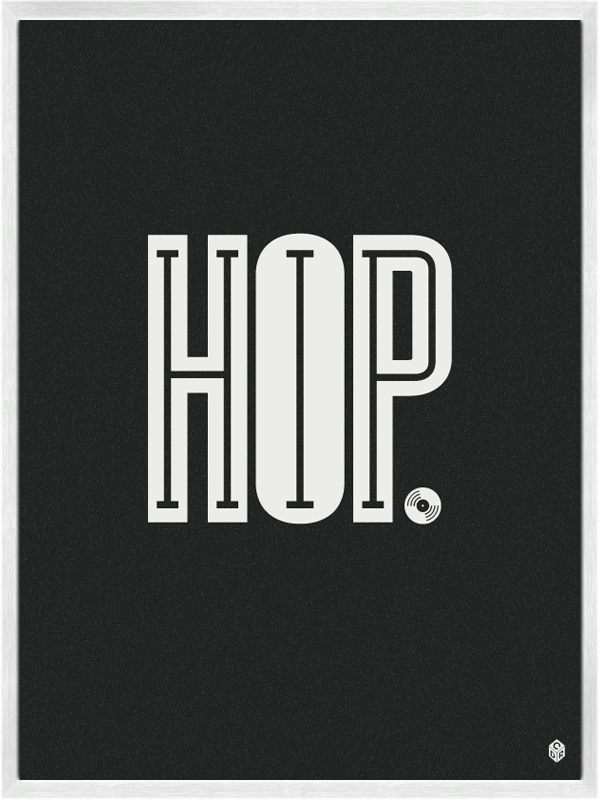 Hip Hop Music Poster by Christopher David Ryan