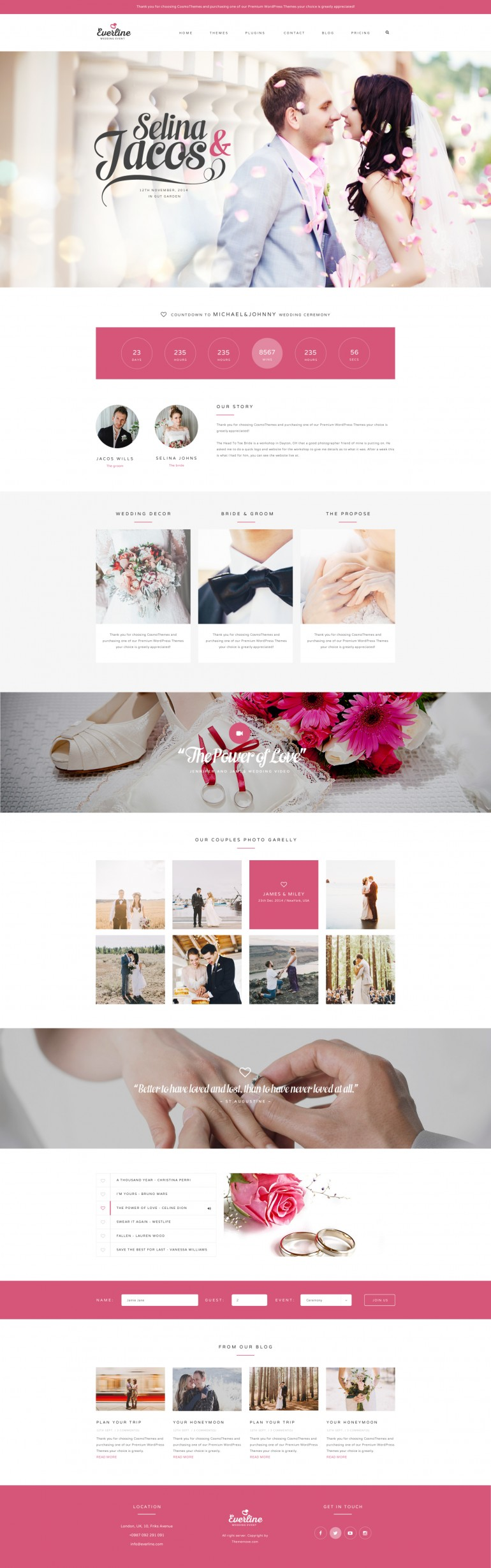 Everline – Wedding Template