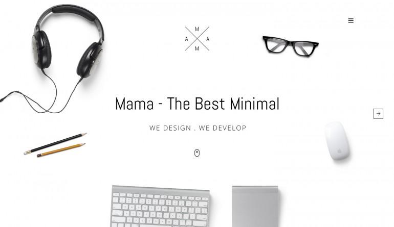 MAMA – Creative Minimal web design