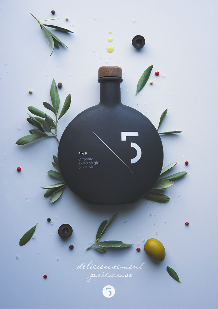 Awesome Packaging Design Pierrick Allan – Five Olive Oil