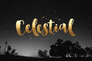 Celestial Hand lettering