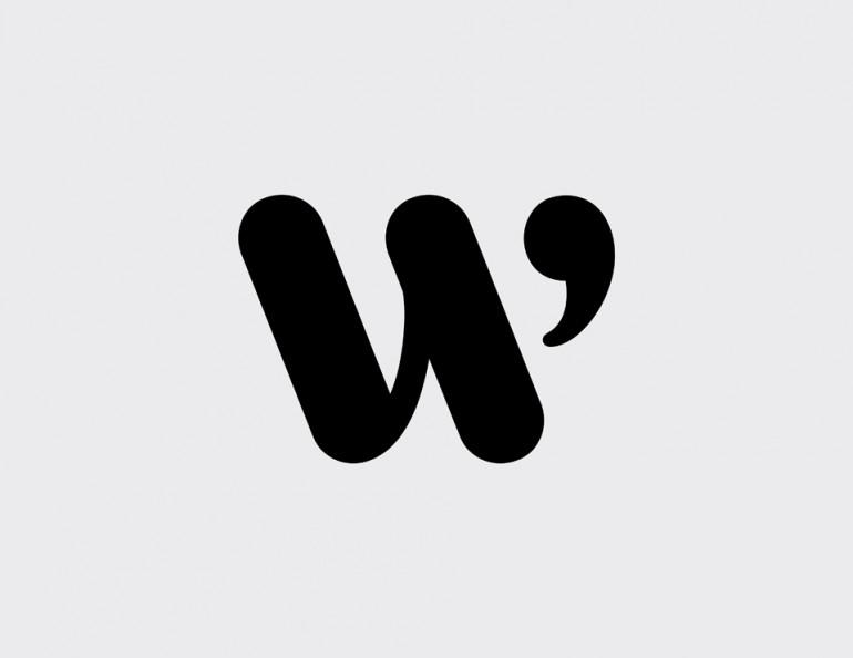 Logo design symbol – W