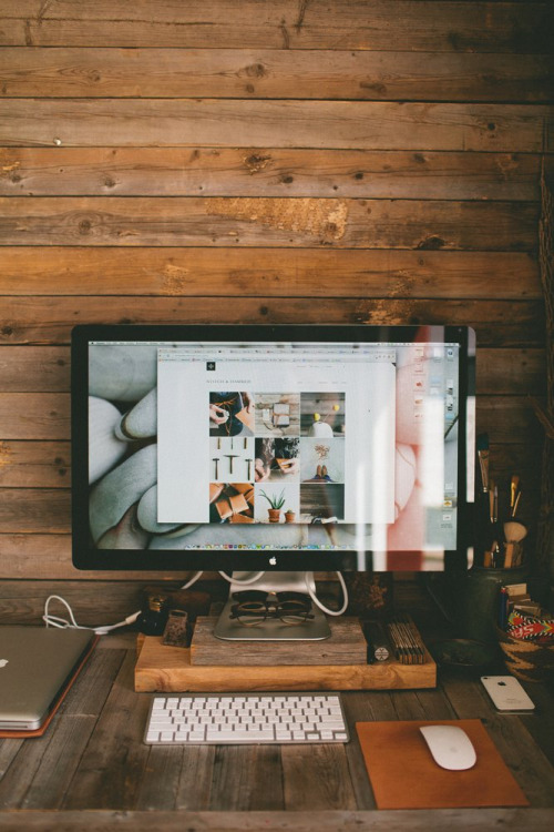 Wooden Workspace