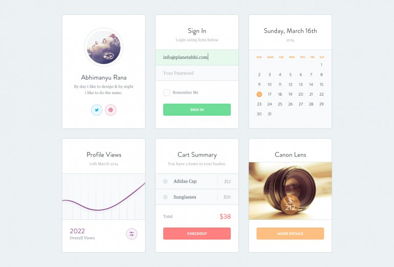 Ui Kit PSD by Abhimanyu Rana
