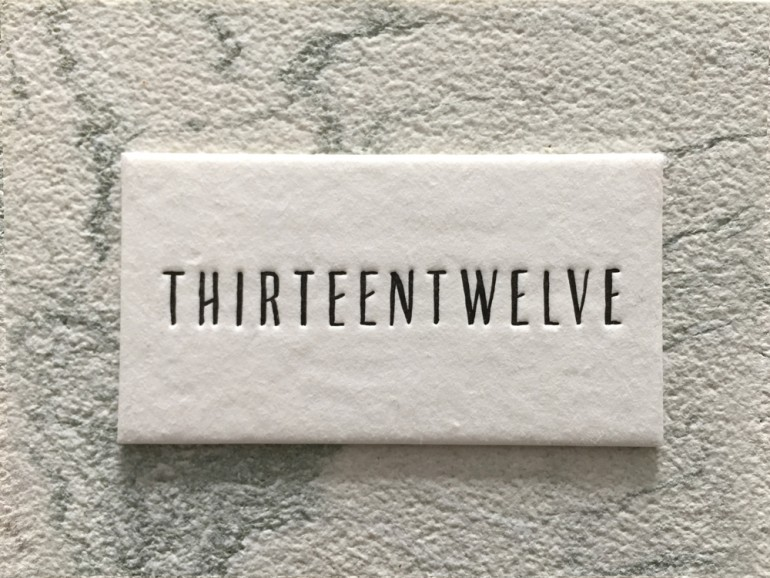 Branding of fashion agency THIRTEENTWELVE