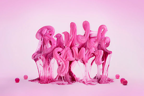 Amazing food typography by Alex Palazzi