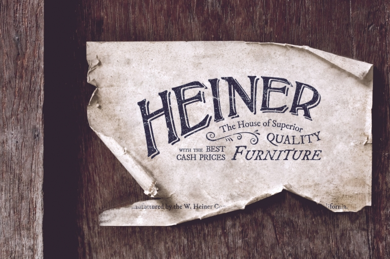 Heiner Furniture Logo  Inspired from the 19th century era, this carefully crafted logo templates ...