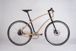 Beautiful Jan bicycle is made with a handcrafted wooden frame