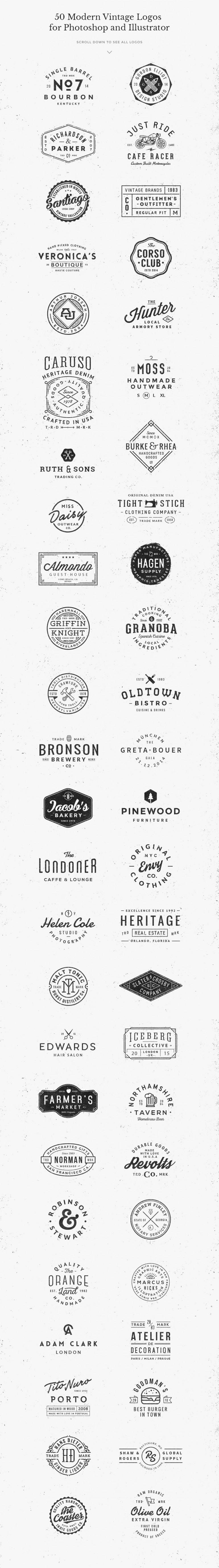 50 Logo Mock-ups + 50 Logo Templates