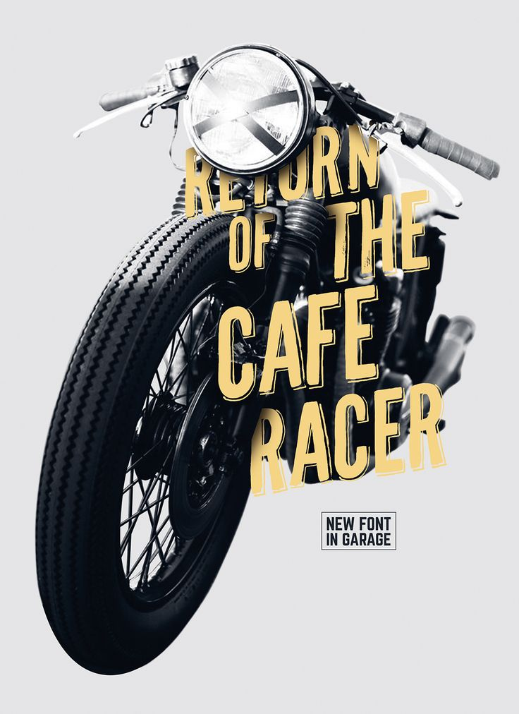 CafeRacer Typeface With the new caferacer font every single word becomes magnificent. The irregu ...