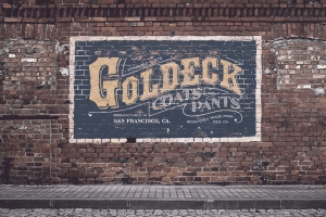 Goldeck Coats and Pants Logo  Inspired from the 19th century era, this carefully crafted logo te ...