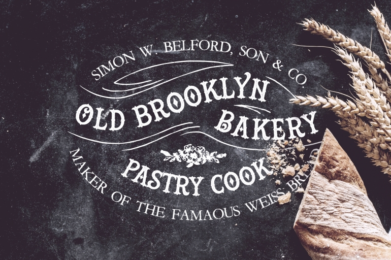 Old Brooklyn Bakery LogoInspired from the 19th century era, this carefully crafted logo templa ...
