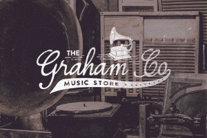 The Graham Co. Music Store Logo  Inspired from the 19th century era, this carefully crafted logo ...