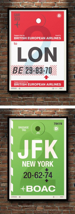 Flight Tag Prints by Neil Stevens | Inspiration Grid | Design Inspiration