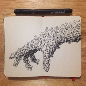 Pretty hand illustrations by Kerby Rosanes