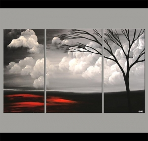 Large Abstract Landscape Original Acrylic Painting by OsnatFineArt