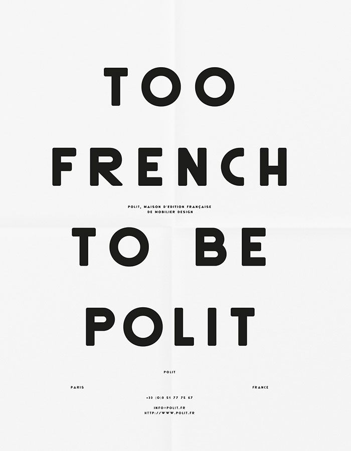 Too French To Be Polit Poster
