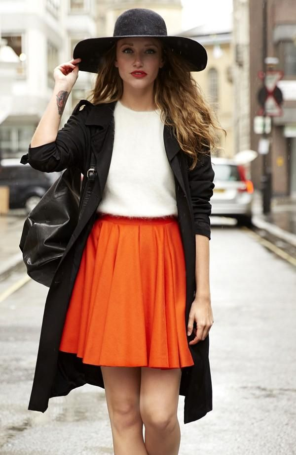 The All Weather Skater Skirt Street Style Look
