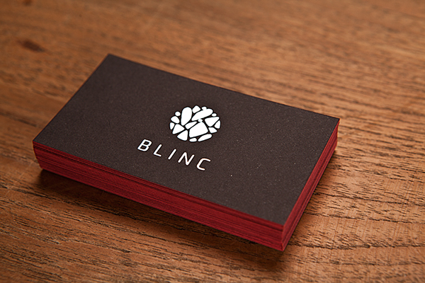Business cards for Blinc.