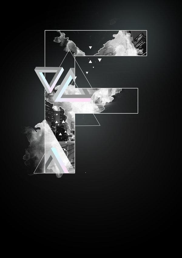 Alphabetic Digital Art Project by Frank van der Hak