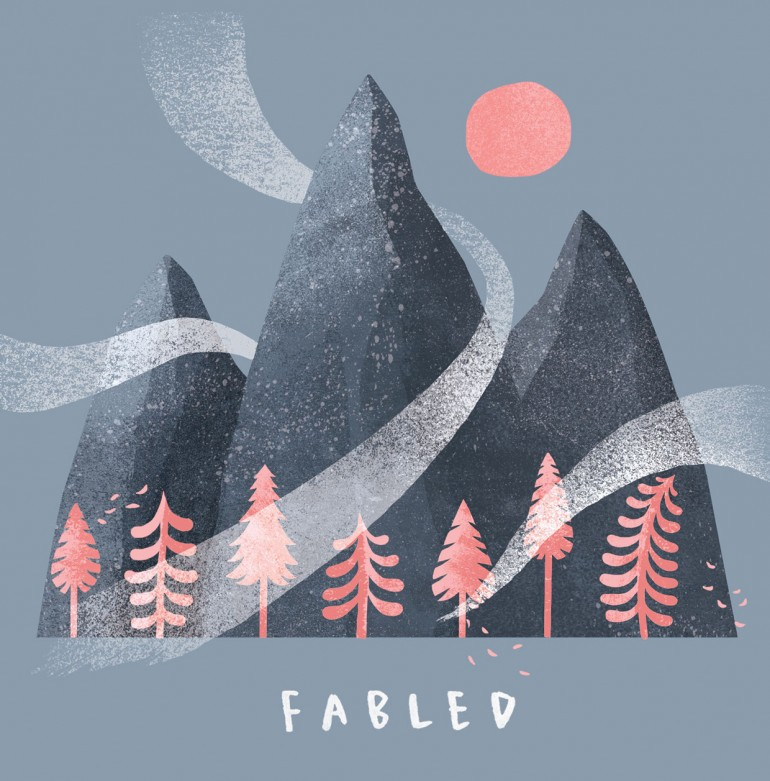 Artwork for the debut EP of Fabled, a London-based jazz band.
