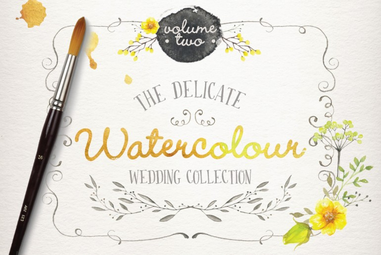 195 Breathtaking Watercolor & Vintage Floral Elements