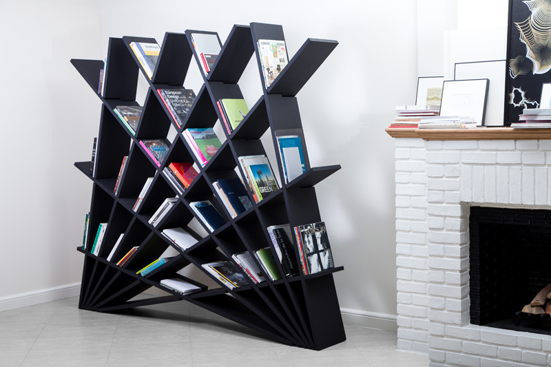 An Interlocking Bookshelf