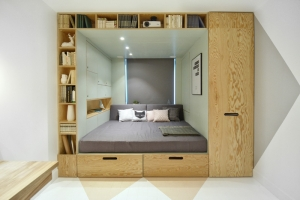 Teenager's Bedroom Has A Built-In Bed And Storage For Almost Everything