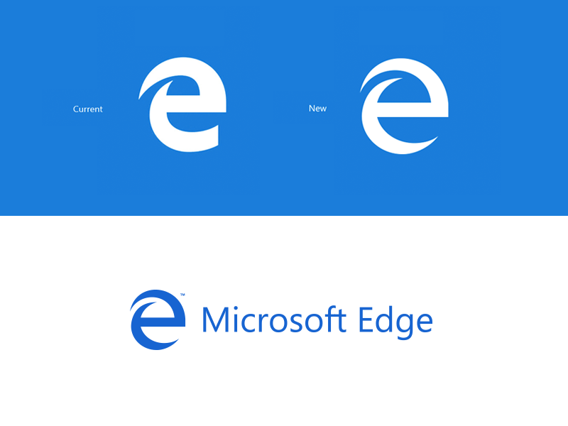 Microsoft Edge Logo Redesign http://on.be.net/1JWzFbc