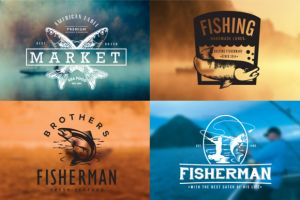 Fishing Vintage Badges Logos ~ Logo Templates on Creative Market