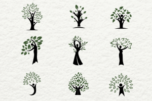 Human Shaped Trees For Logos ~ Logo Templates on Creative Market