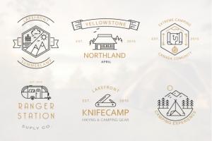 Iconic Camping Logo Badges ~ Logo Templates on Creative Market