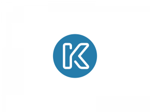 K / Line Logo Design Monogram