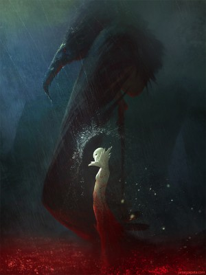 Moon and Crow by jameszapata