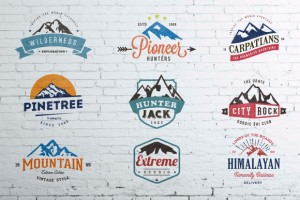 Mountain Vintage Badges Color ~ Logo Templates on Creative Market