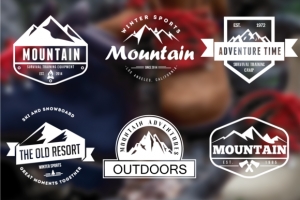 Mountain Vintage Badges ~ Logo Templates on Creative Market