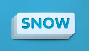 SNOW logo – cut out cardboard version