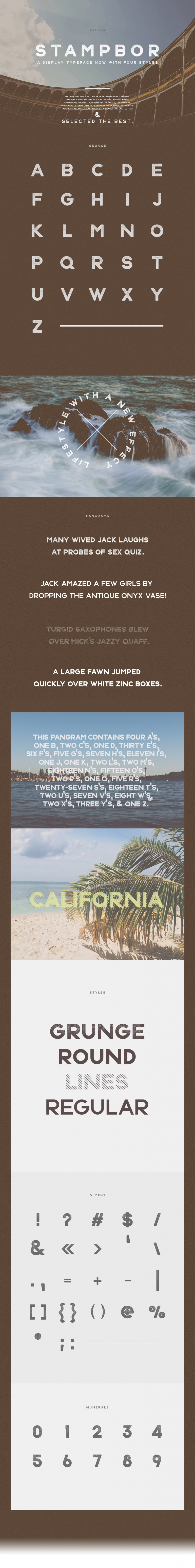 Stampbor Typeface on Behance