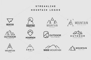 Streamline Mountain Logos ~ Logo Templates on Creative Market